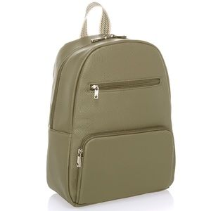 Thirty-One Boutique Backpack Oh-la-la Olive Pebble